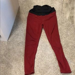 Amazing Just Black Maternity Jeans In Burgundy